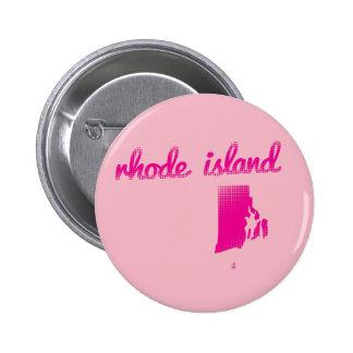 Rhode Island state in pink 6 Cm Round Badge