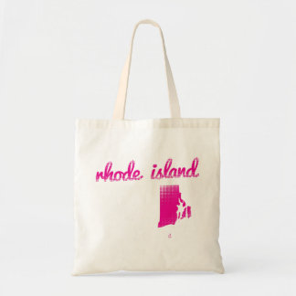 Rhode Island state in pink Tote Bag