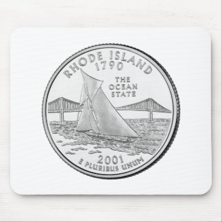 Rhode Island State Quarter Mouse Pad