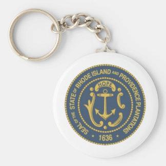 Rhode Island State Seal Key Ring