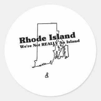 Rhode Island State Slogan Classic Round Sticker