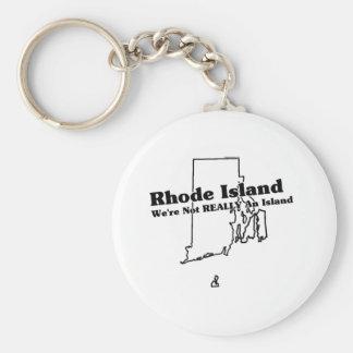 Rhode Island State Slogan Key Ring