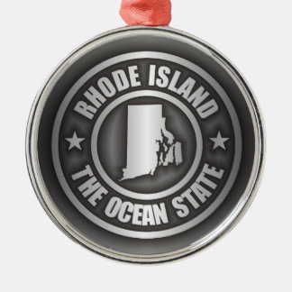 Rhode Island Steel Christmas Ornament