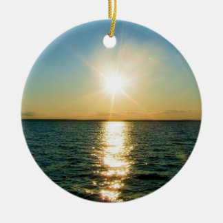Rhode Island sunset ornament