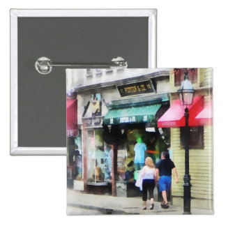 Rhode Island - Thames Street Newport RI Button