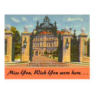 Rhode Island, The Breakers, Newport Postcard