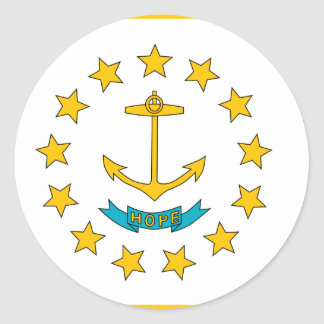Rhode Island, United States Classic Round Sticker
