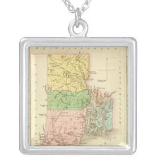 Rhode Island US Silver Plated Necklace