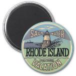 Rhode Island Vintage Travel Fridge Magnet
