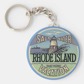 Rhode Island Vintage Travel Key Ring