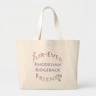 Rhodeisan Ridgeback Fur-ever Friend Canvas Bag