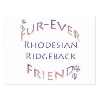 Rhodeisan Ridgeback Fur-ever Friend Postcard
