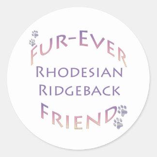 Rhodeisan Ridgeback Fur-ever Friend Round Sticker