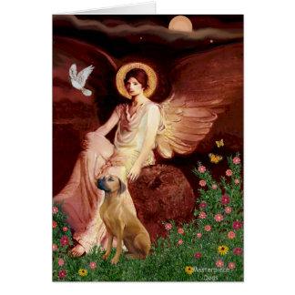 Rhodeisn Ridgebak 2 - Seated Angel Greeting Card