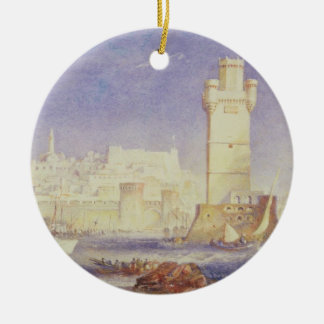 Rhodes, c.1823-24 (w/c & bodycolour on paper) christmas ornament