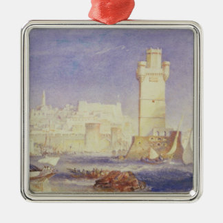Rhodes, c.1823-24 (w/c & bodycolour on paper) Silver-Colored square decoration