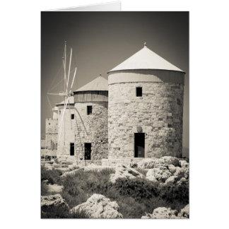 Rhodes Windmills Card
