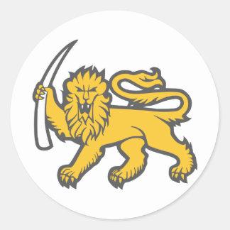 Rhodesian Lion Classic Round Sticker