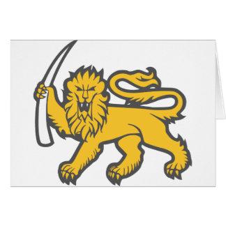 Rhodesian Lion Greeting Card