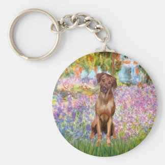 Rhodesian Ridgeback 1 - Garden Basic Round Button Key Ring