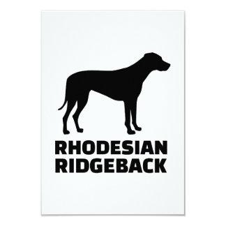 Rhodesian Ridgeback 9 Cm X 13 Cm Invitation Card