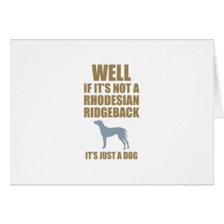 Rhodesian Ridgeback Greeting Card