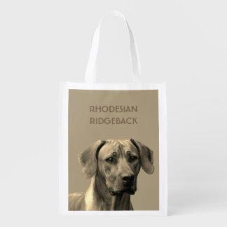 Rhodesian Ridgeback case Reusable Grocery Bag