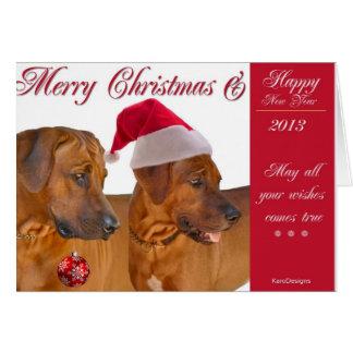 Rhodesian Ridgeback Christmas Card