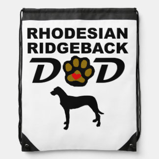 Rhodesian Ridgeback Dad Drawstring Bag