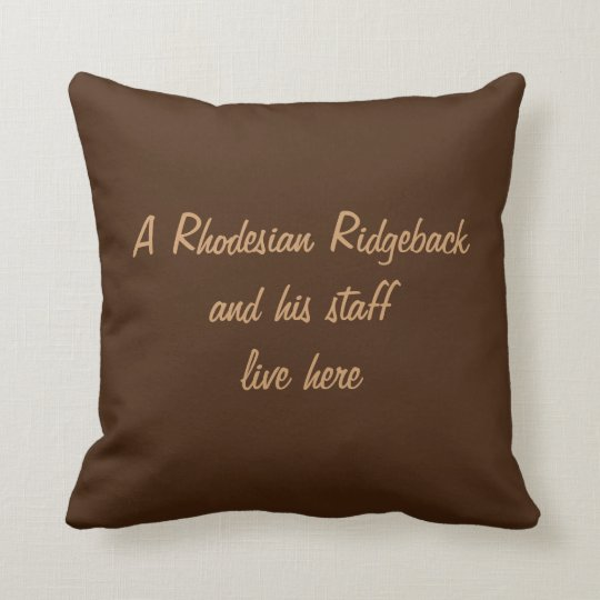 Rhodesian Ridgeback dog beautiful photo cushion