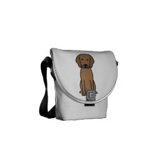 Rhodesian Ridgeback Dog Cartoon Commuter Bags