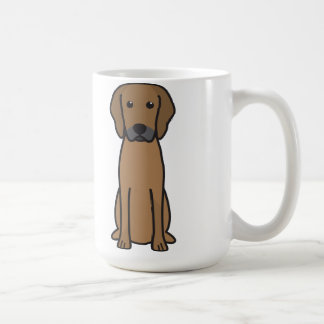 Rhodesian Ridgeback Dog Cartoon Classic White Coffee Mug