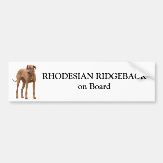 Rhodesian Ridgeback dog on board custom sticker