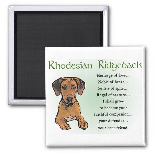 Rhodesian Ridgeback Gifts Magnet