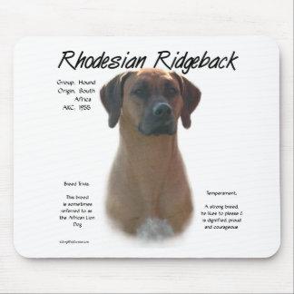 Rhodesian Ridgeback History Design Mouse Mat