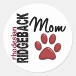 Rhodesian Ridgeback Mum 2 Round Stickers