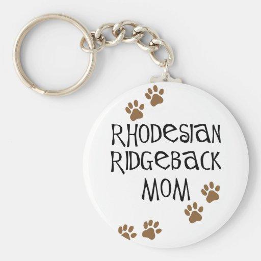 Rhodesian Ridgeback Mum Basic Round Button Key Ring