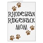 Rhodesian Ridgeback Mum Card