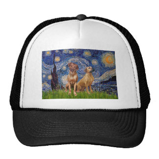 Rhodesian Ridgeback Pair - Starry Night Hat
