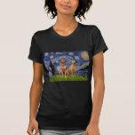 Rhodesian Ridgeback Pair - Starry Night Tee Shirts