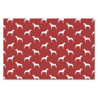 Rhodesian Ridgeback Silhouettes Pattern Red Tissue Paper