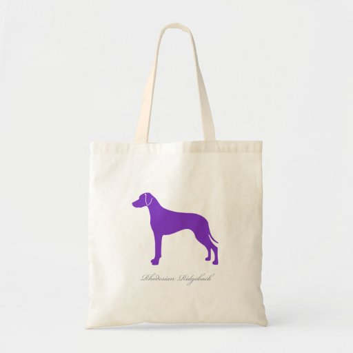 Rhodesian Ridgeback Tote Bag (purple silhouette)