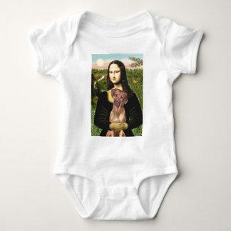 RhodesianRidgeback 1 - Mona Lisa Baby Bodysuit