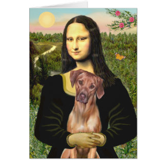 RhodesianRidgeback 1 - Mona Lisa Greeting Card