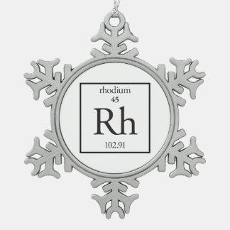 Rhodium Snowflake Pewter Christmas Ornament