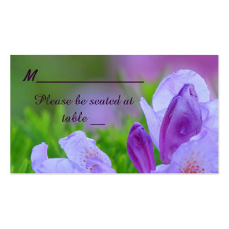 Rhododendron After the Rain Wedding Place Business Card Template