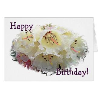 Rhododendron Birthday Card