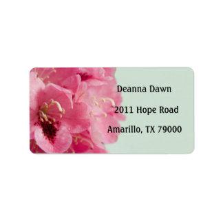 Rhododendron Elegant Floral Address Label