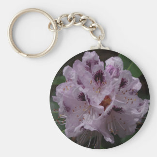 Rhododendron Flower Keyring Basic Round Button Key Ring