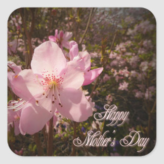 Rhododendron flower square sticker